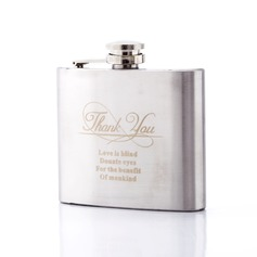 "Personalized ""Thank You"" Stainless Steel Flask"