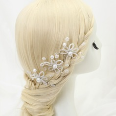 Glamourous Crystal/Alloy/Imitation Pearls Hairpins (Set of 3)