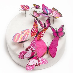 Butterfly PVC Wedding Cake Topper (Set of 12) (119072115)