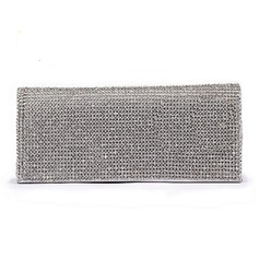 Charming Patent Leather With Rhinestone Clutches