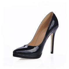 Patent Leather Stiletto Heel Pumps Platform Closed Toe shoes (085015213)