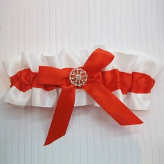 Chinese Style Satin With Bowknot Rhinestone Wedding Garters