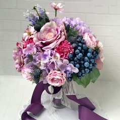 Sweet Ribbon/Artificial Silk/Lace Bridal Bouquets -