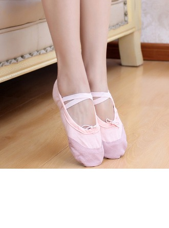 Women's Kids' Canvas Flats Ballet Dance Shoes