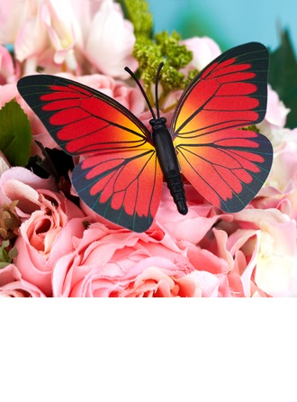 Red and Black Plastic Butterfly