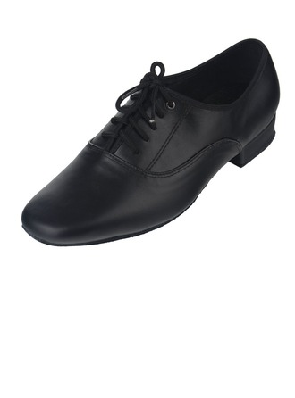 Men's Real Leather Heels Modern With Lace-up Dance Shoes
