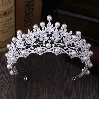Ladies Beautiful Rhinestone/Imitation Pearls Tiaras