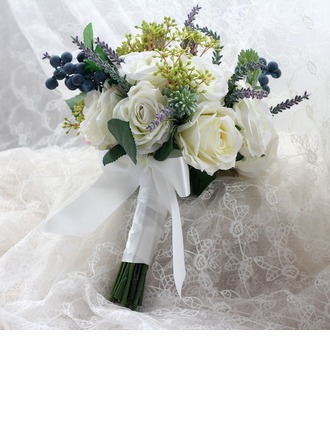 Lovely Hand-tied Cloth/Ribbon Bridal Bouquets