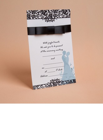 Vintage Style/Classic Style Flat Card Invitation Cards With Ribbons