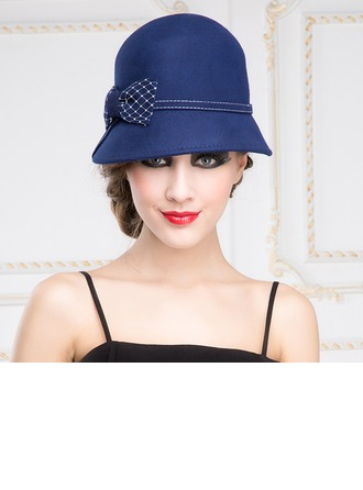 Ladies' Charming Autumn/Winter Wool With Bowknot Bowler/Cloche Hat