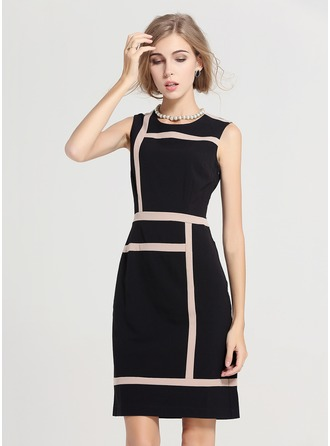 Polyester/Cotton With Above Knee Dress