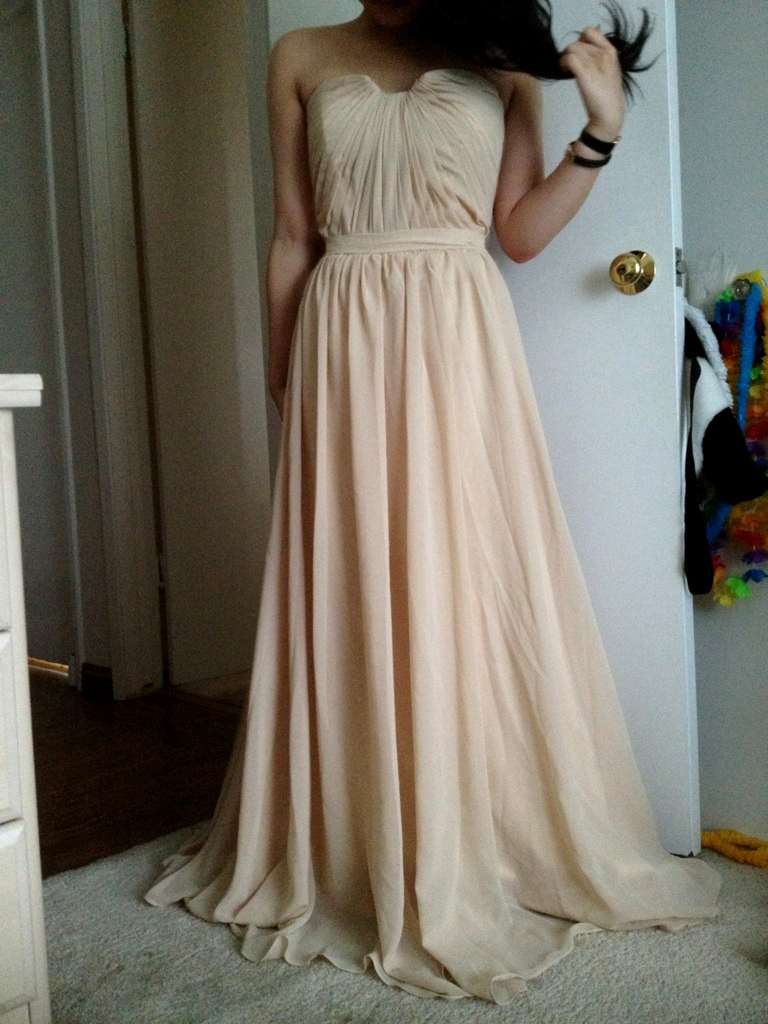 A Line Princess Sweetheart Floor Length Chiffon Prom Dress With Ruffle g jjshouse wedding dress It literally was sewn on right in the middle and the rest of it hangs disconnected from the dress But what else could i expect for such an inexpensive
