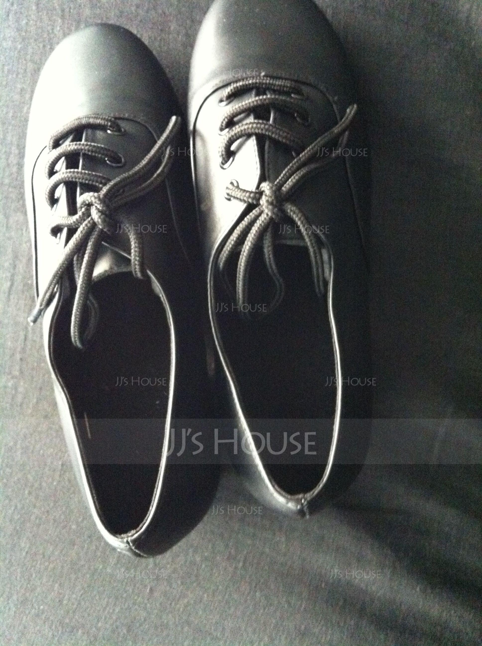Men's Real Leather Flats Practice Dance Shoes (053013126)