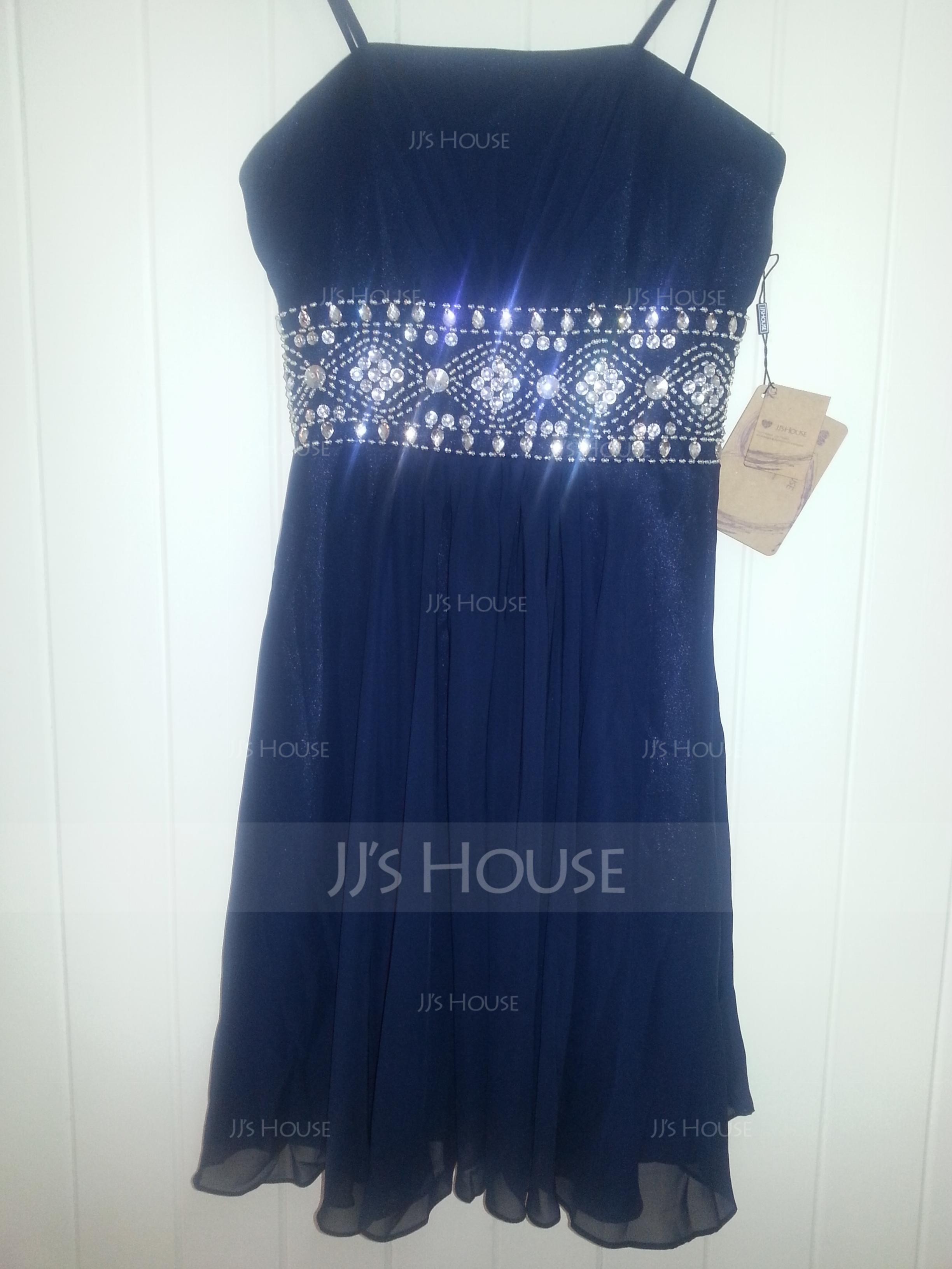 A-Line/Princess Knee-Length Chiffon Homecoming Dress With Ruffle Beading (022020610)